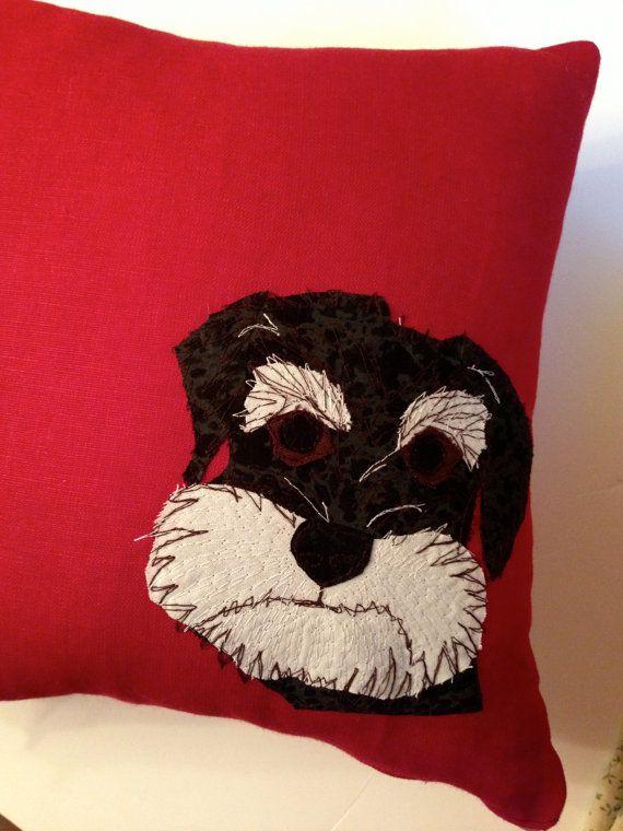 Schnauzer Cushion a beautiful accessory for your by BeaglenThread, £22.99