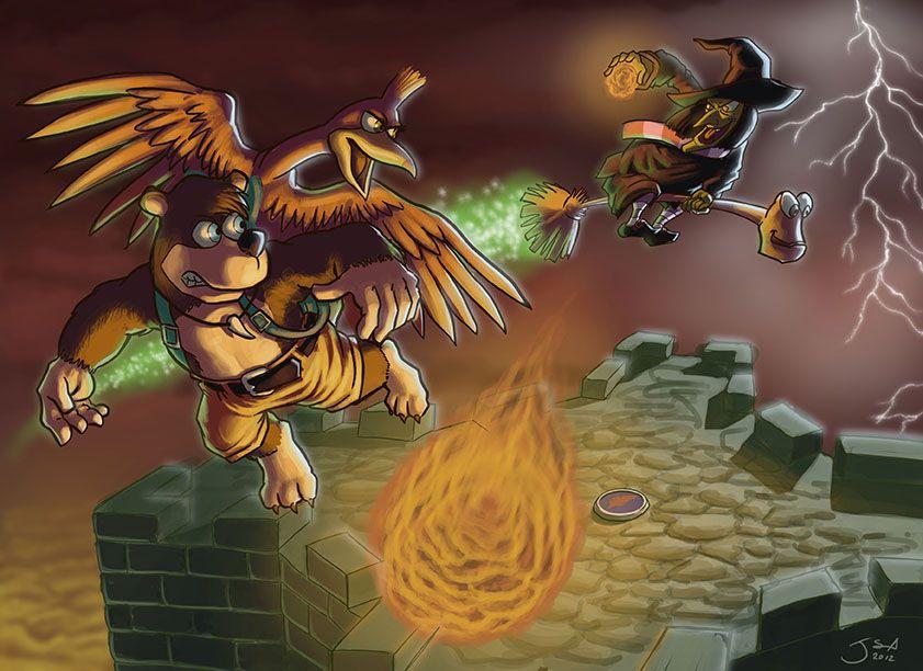 Gruntilda Battle By Jasazgo On Deviantart Battle Banjo Kazooie Bowser