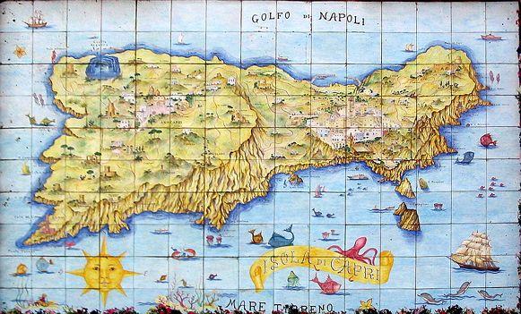 Map of Capri | Italy | Map, Sorrento to amalfi, Italy Capri Map on