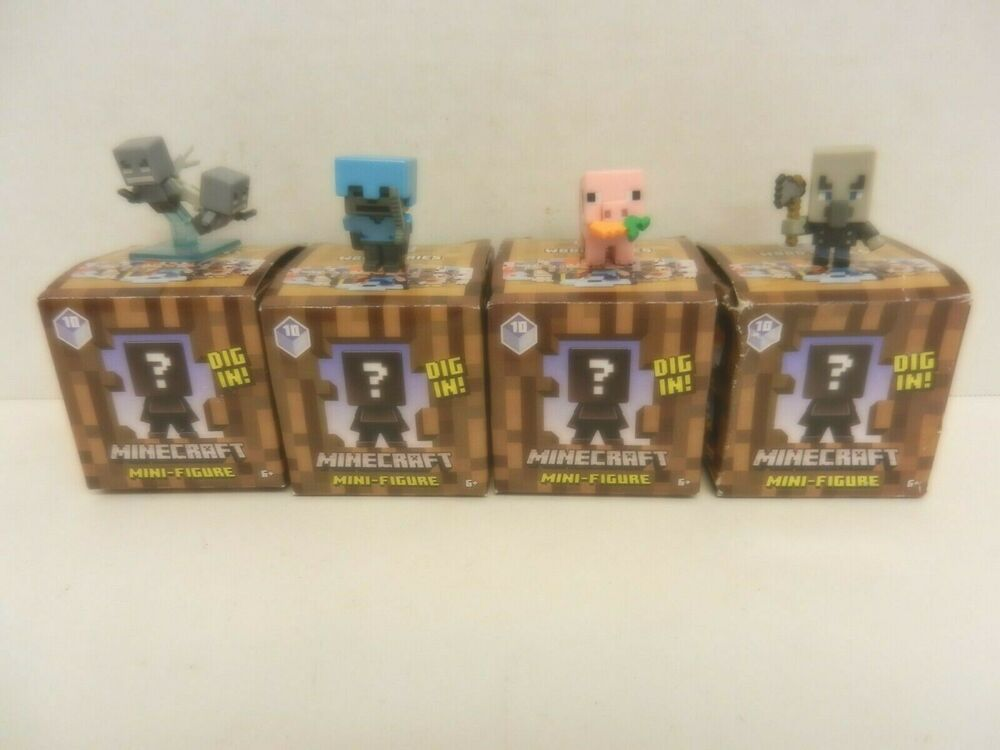 NEW Minecraft Chest Series 3-Pack Mattel Purple Wave Blind Box Action Figures