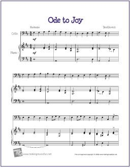 Ode to Joy (Beethoven) | Cello | Free Printable Sheet Music