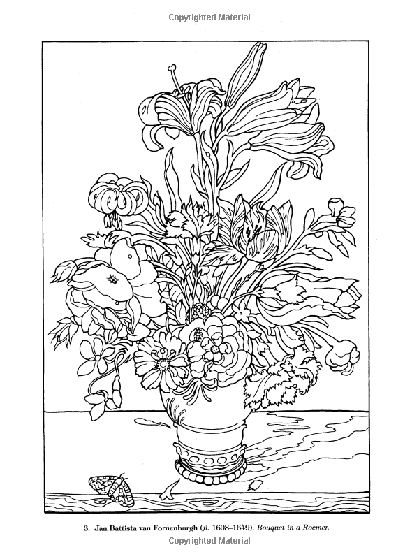 Color Your Own Great Flower Paintings (Dover Art Coloring