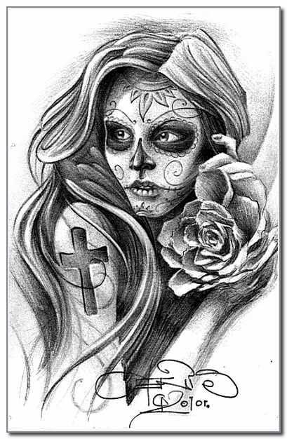 Santa Muerte Szukaj W Google Pomysły Na Tatuaż Tatuaż