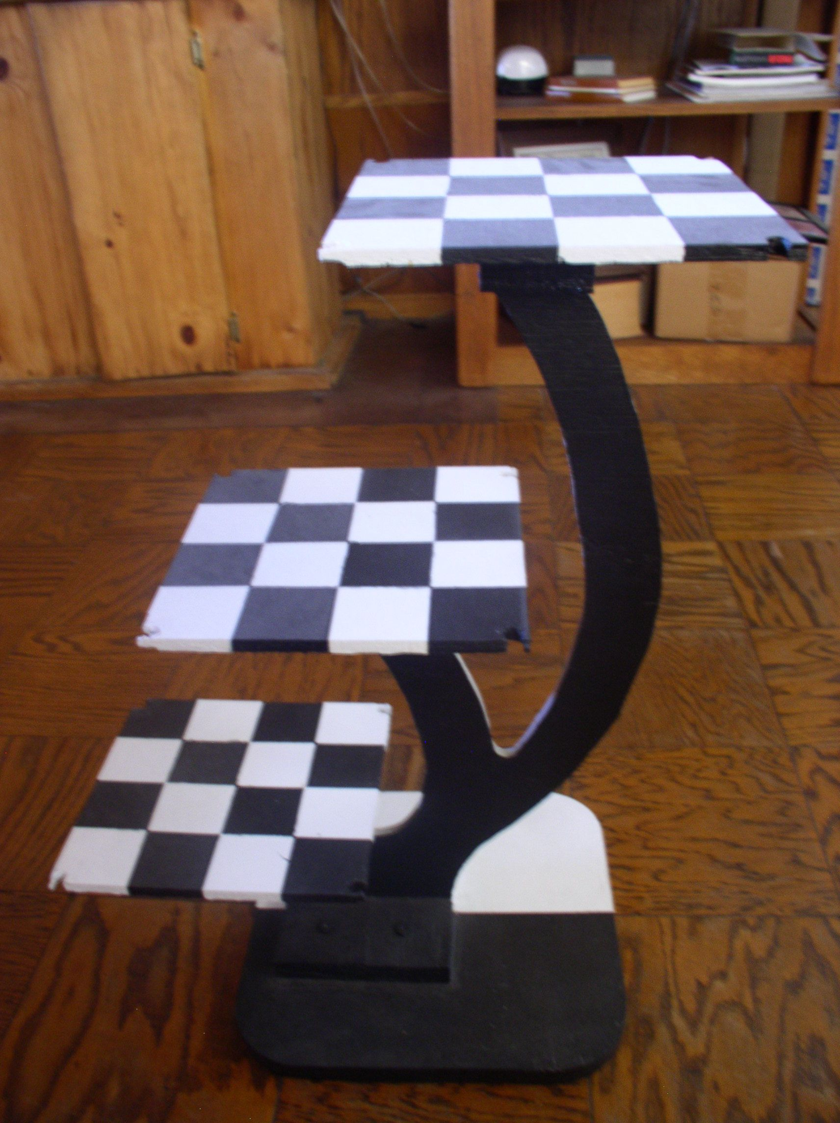 My 3D Chess board I designed and built from star Trek Black side