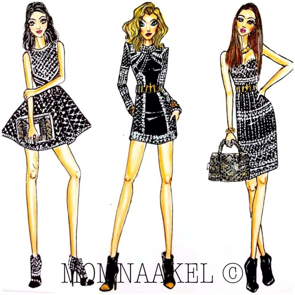 2019 year looks- Designs Fashion sketches tumblr pictures