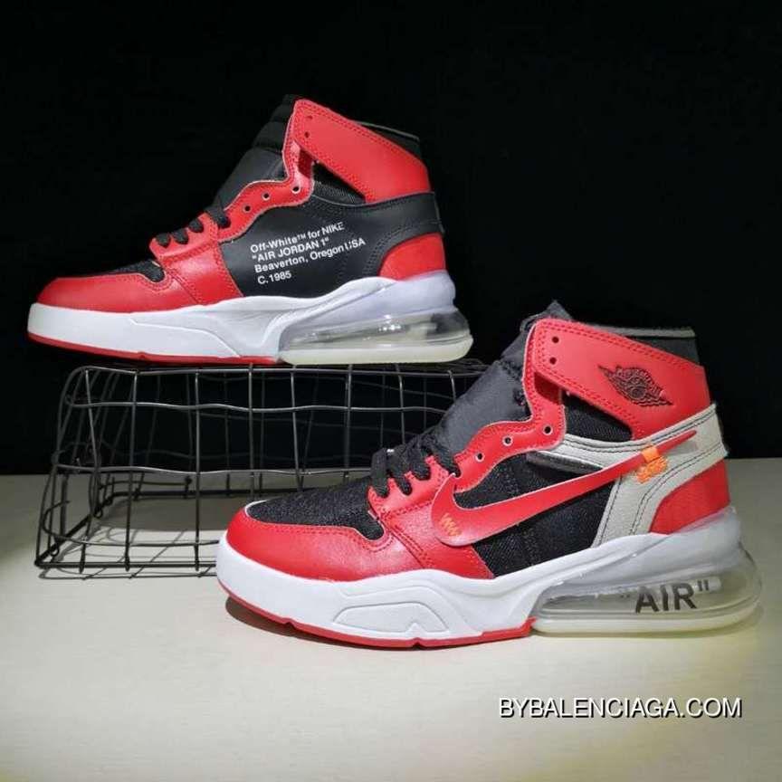 c586cba17 Off-White X Nike Air Jordan 270 White Red Black Sneaker Shoes Top Deals