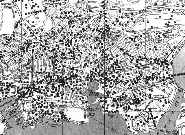 Map Of England Plymouth.Where The Bombs Fell Plymouth Centre In 2019 Ww Ii Plymouth