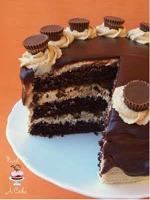 chocolate peanut butter cake!