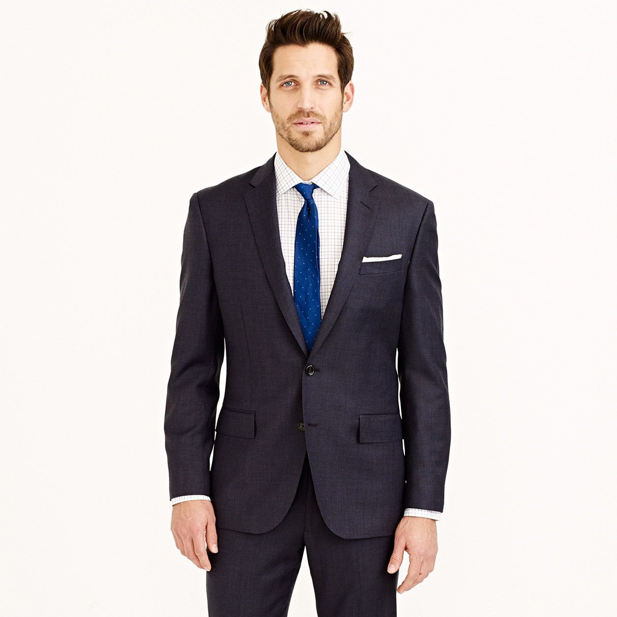 0cdf5d04925cc J.Crew Mens Crosby Suit Jacket With Double Vent In Italian Worsted Wool  (Size 42 Regular)