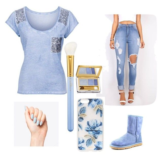 """""""Blue vibes"""" by briana-13 ❤ liked on Polyvore featuring UGG Australia, Sonix, Estée Lauder, MAC Cosmetics, women's clothing, women, female, woman, misses and juniors"""