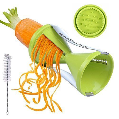 New-Black-Kitchen-Active-Spiralizer-Spiral-Slicer-Pasta-Zucchini-Spaghetti-Make