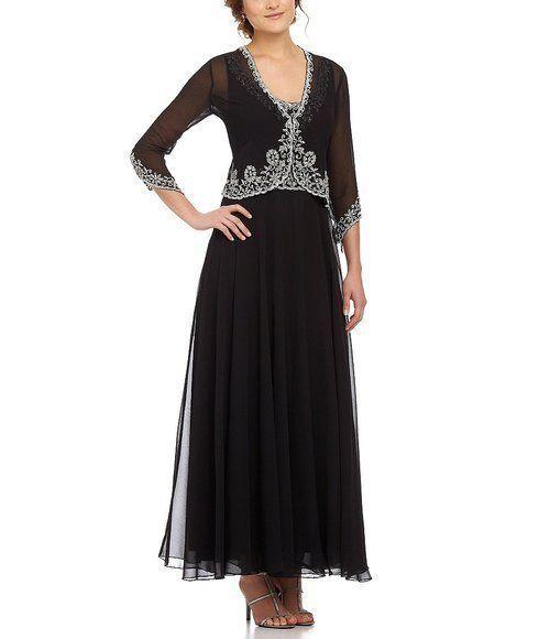 6080675cdfb J KARA jkara Blk Formal Evening Gown jacket maxi dress 2pc Plus Sz 20w   JKara  flareBallGown  Formal