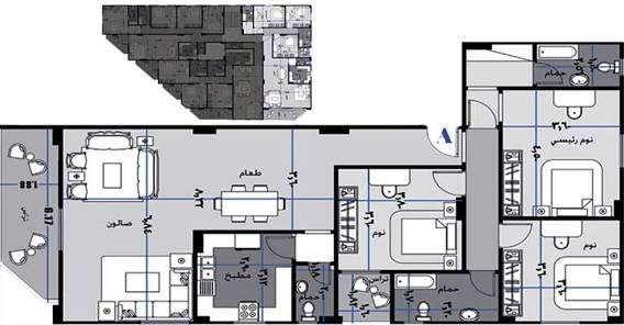 شقة للبيع ,مدينة الشروق 185 م ,قطعة 149 - المجاورة السابعة - الحى الثالث - فيلات - مدينة الشروق / دار للتنمية وادارة المشروعات - كلمنا على 16045