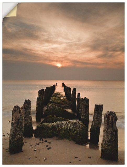 Premium Wandfolie »Rico Ködder: Sonnenuntergang an der Ostsee« #naturallandmarks