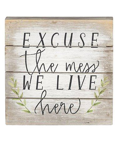 Word Wall Decor Plaques Signs Amusing Love This 'we Live Here' Wall Sign On #zulily #zulilyfinds  Home Decorating Inspiration