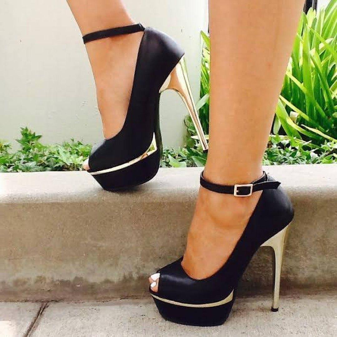 Amazing OL Style Ankle Strap Platform Heels