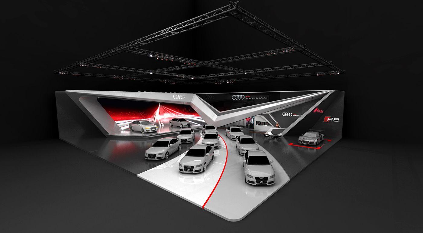 Audi Mortoshow On Behance Booth Design Exhibition Design Sign Board Design