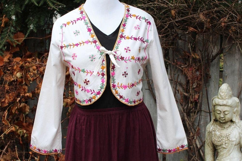 Hand embroidered Jacket - unusual Bolero Style - by Mayan women, Chiapas Mexico #Handmade #BasicJacket