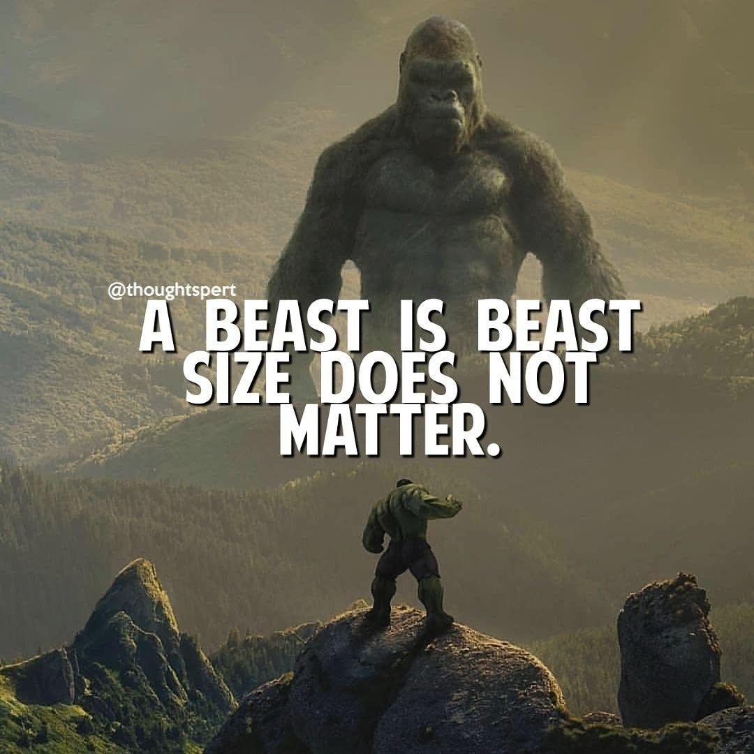 Hulk or King kong?? Mine is HULK 💪 . inspirationalquotes