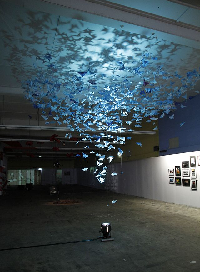 Artist's Mother Inspires Beautiful Butterfly Installation #lightartinstallation