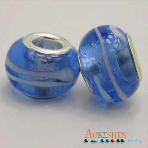 $1.39   Light Blue Lampwork Murano Glass Beads Charms Silver Core Flower http://www.eozy.com/light-blue-lampwork-murano-glass-beads-charms-silver-core-flower.html