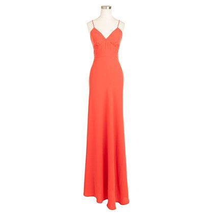 J.Crew - Aubrey long dress in drapey matte crepe