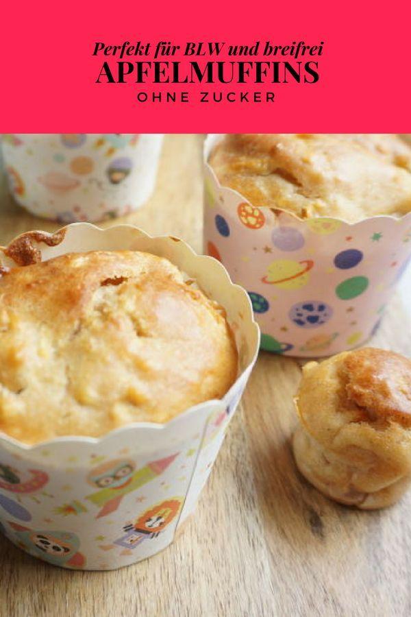 Apfelmuffins ohne Zucker #apfelmuffinsrezepte