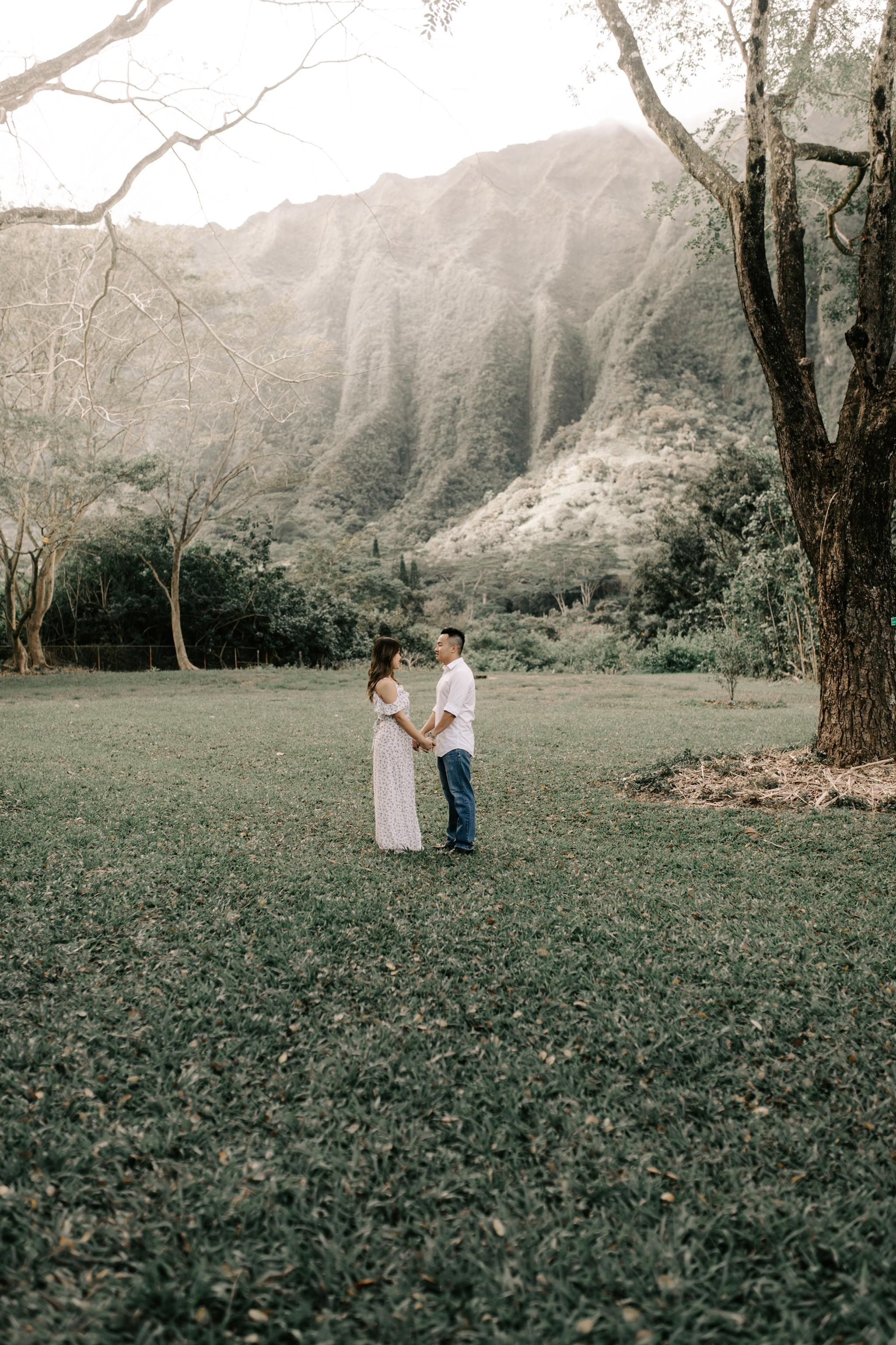 Hoomaluhia Botanical Gardens Engagements Hawaii Wedding Engagement