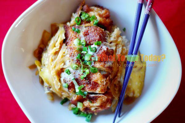 Katsudon Katsudon Pork Cutlets Japanese Chicken