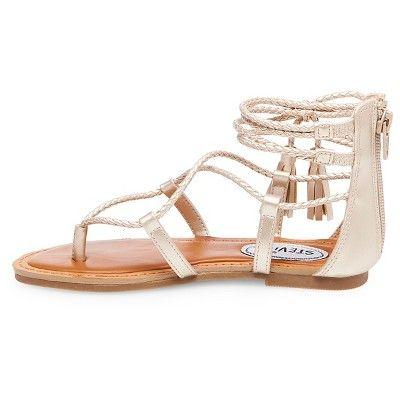 0a0aa3a99bcd Girls  Stevies  shoegoals Tassel Gladiator Sandals - Gold 13 ...
