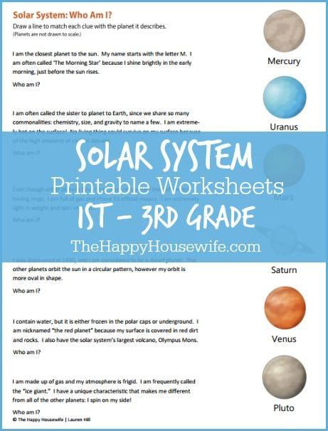 FREE* Solar System Printables | Outer Space | Pinterest | Solar ...