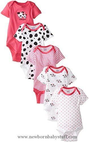 63706532c3 Baby Girl Clothes Gerber Baby-Girls Newborn 5 Pack Variety Onesie ...