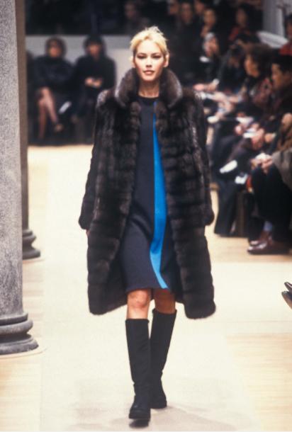 1996 Fendi Furs Fashion Magazine Print Ad: Fendi Ready-To-Wear Fall/Winter 1996