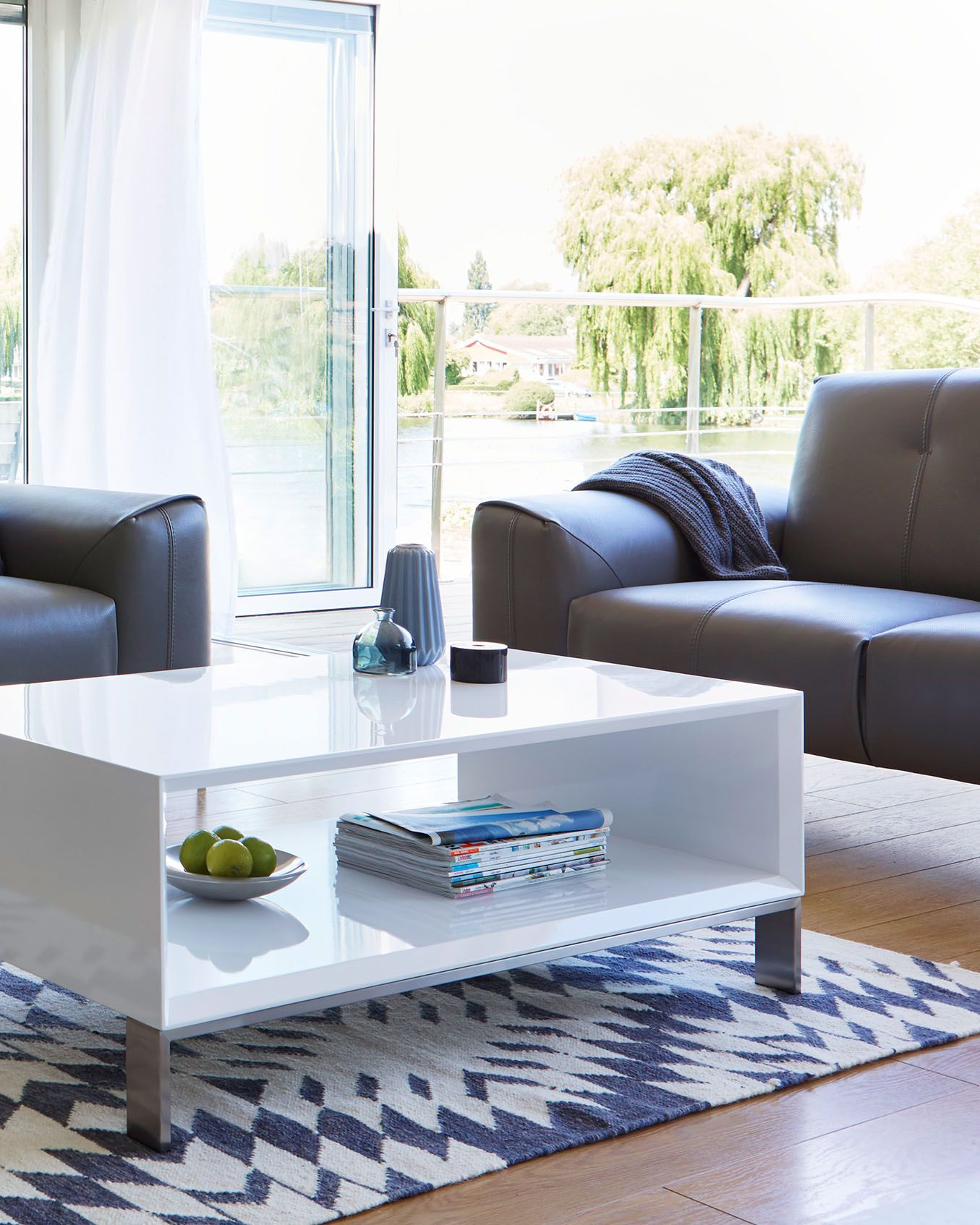 15++ White gloss coffee table with storage inspirations
