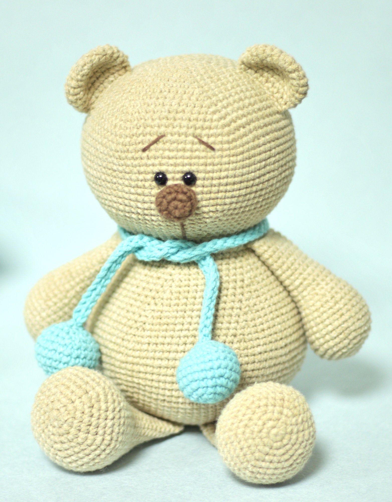 Items similar to Crochet bear toy , stuffed teddy bear , amigurumi bear toy, soft toy, plush toy for cuddling , Mother's Day gift , Baby shower on Etsy #beartoy