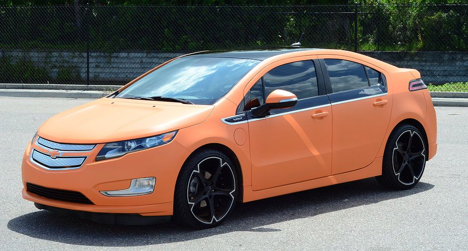 2012 Chevy Volt With 20 Giovanna Wheels Dipped In Sunset Orange