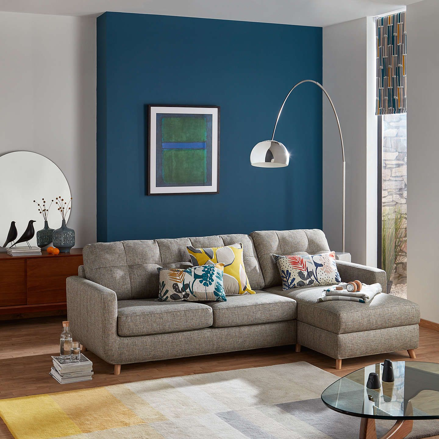 John Lewis & Partners Barbican LHF Chaise Sofa Bed with ...