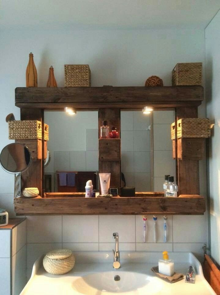Spiegel Palette | Wohnideen | Pinterest | Badezimmer, Diy deko ...