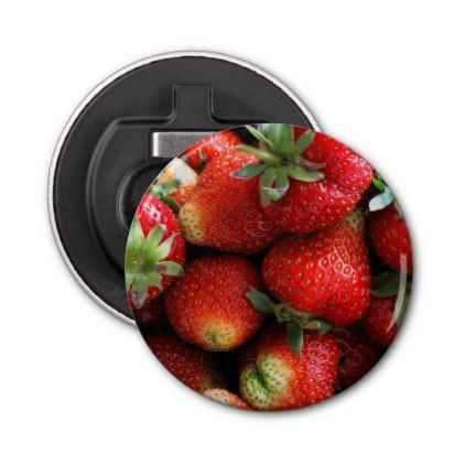 Fresh red strawberry fruits bottle opener - kitchen gifts diy ideas decor special unique individual customized