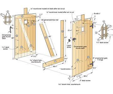 garden gate plans. Grand Entrance Garden Gate Woodworking Plan #outdoor Plans U