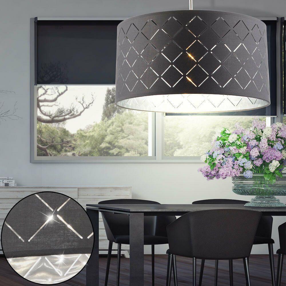 DESIGN Pendel Leuchte Wohn Zimmer Textil Dekor Decken