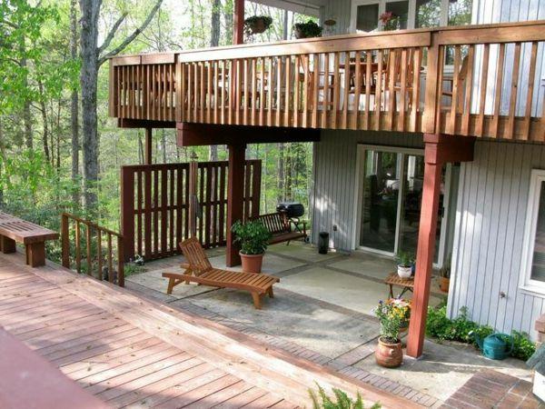 terrassengestaltung ideen terrassenüberdachung terrasse selber - outdoor patio design ideen