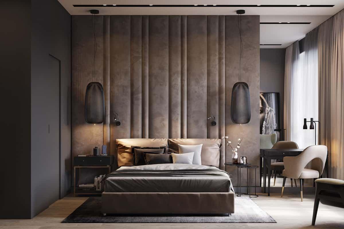 Modern Bedroom 2021 Above Bed Hanging Lights Bedroom Interior Modern Bedroom Design Modern Bedroom Bedroom design for 2021
