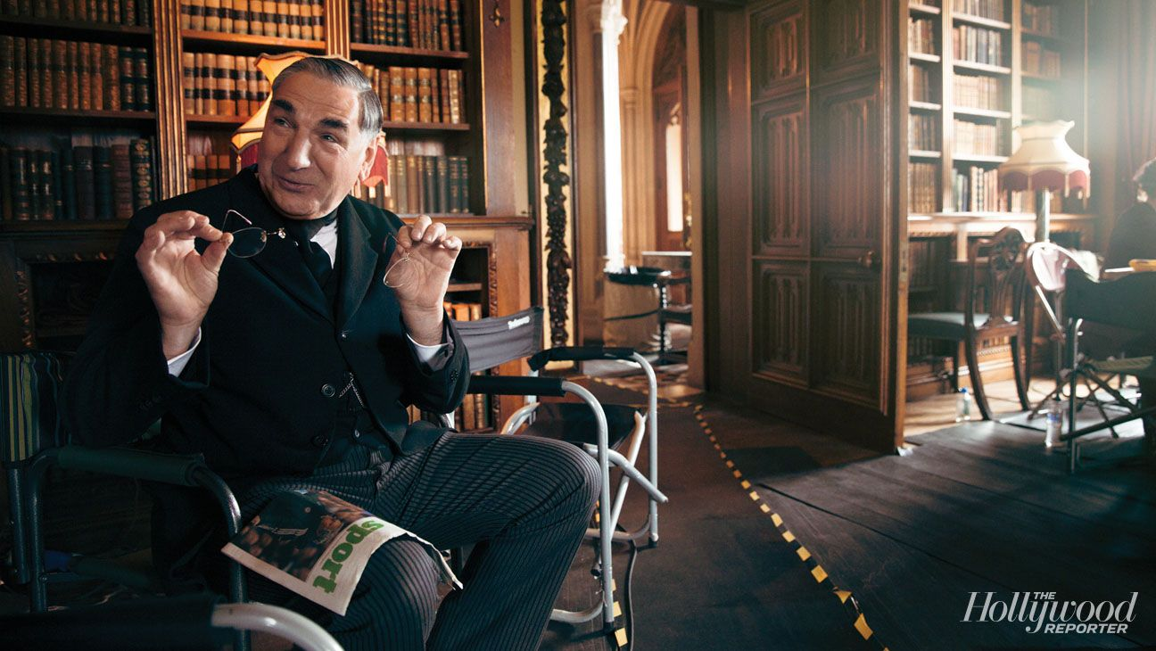 Jim Carter On the Set of 'Downton Abbey' as Hollywood Reporter Gets Exclusive Look at Season 5