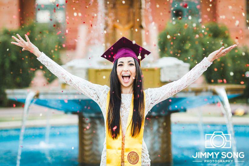 ASU Senior Grad Graduation Picture Ideas Dress Cap Gown. Tempe ...