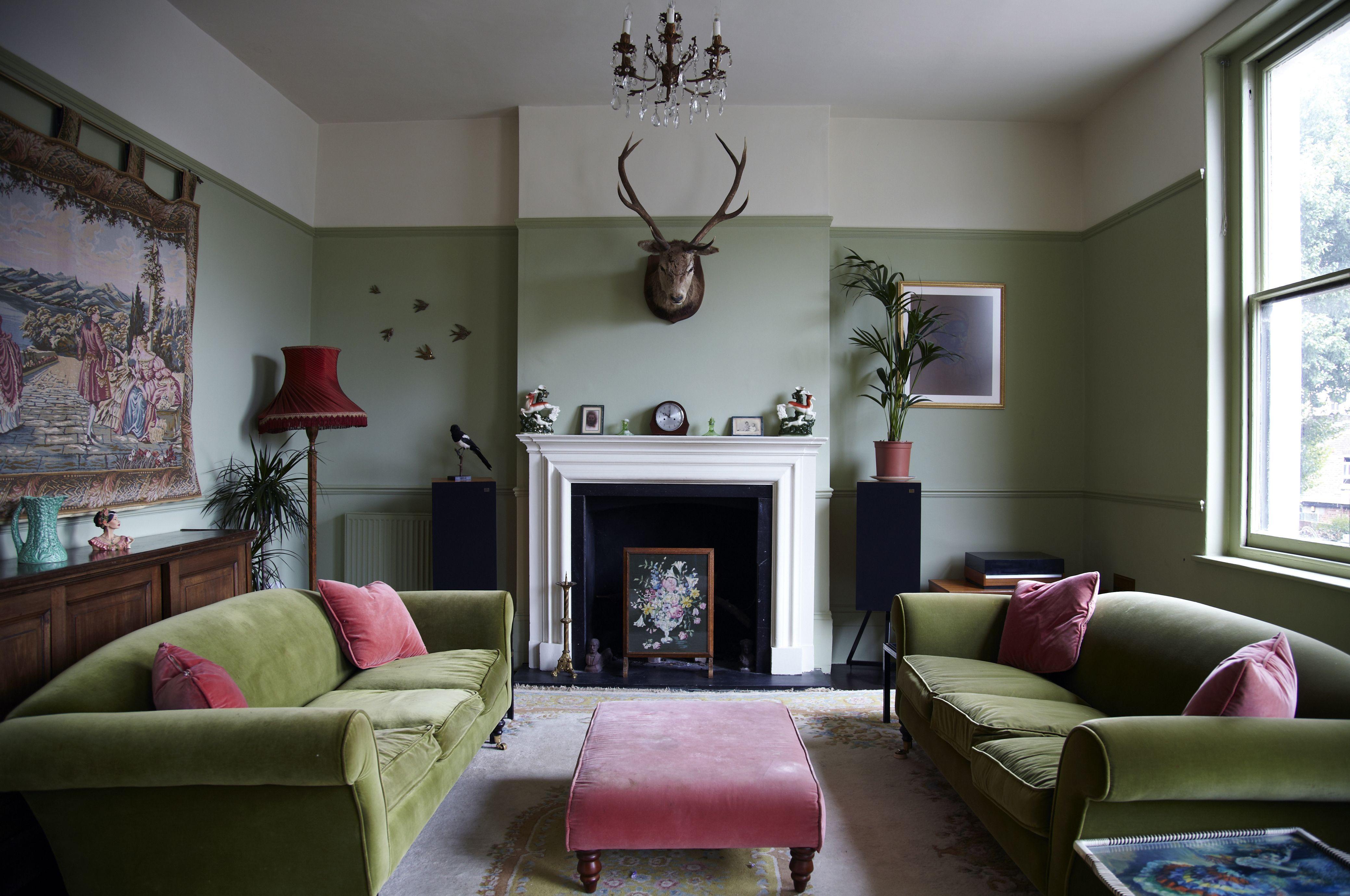 Interior Sage Green Living Room Pink Living Room Living Room Color