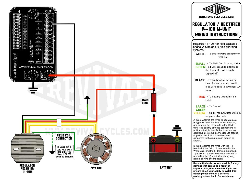 3 Phase Field Excited Regulator Rectifier Revival Cycles Motorcycle Wiring Electrical Wiring Diagram Regulators