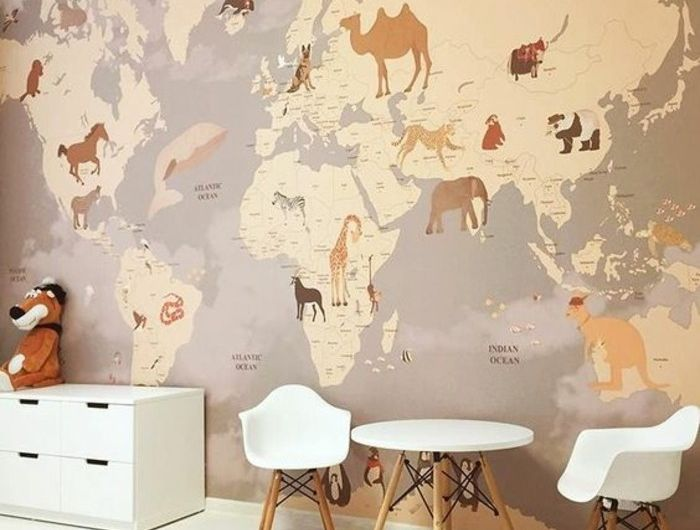 le poster carte du monde g ante vous donne envie voyager chambre des enfants pinterest. Black Bedroom Furniture Sets. Home Design Ideas