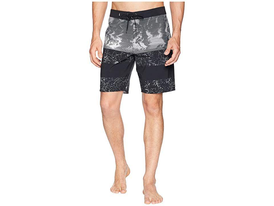 92a9152dfa Vans Era Boardshorts 19 (Black Glitch Palms) Men's Swimwear. Set off an era