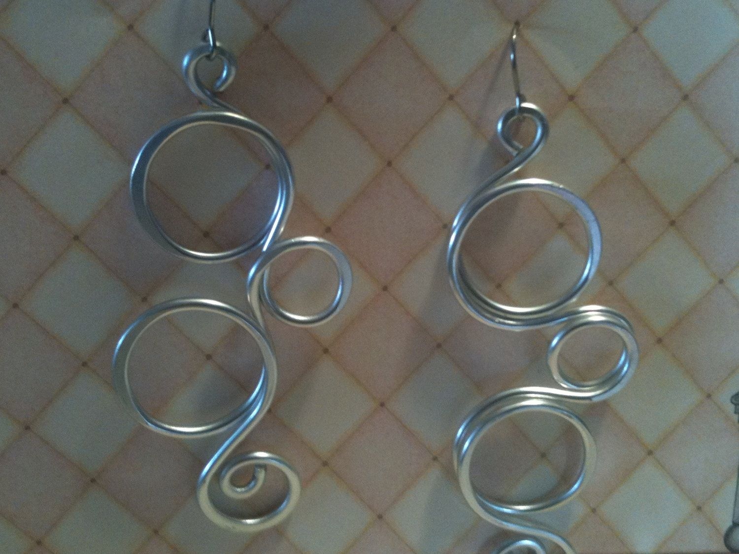 Aluminum Wire Jewelry Swirly Circle Bubbles Lightweight by leisab ...